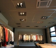 Installatie verlichting showroom